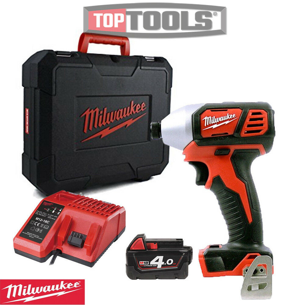 Milwaukee M18BID-0 18v Impact Driver With 1 x 4.0Ah Battery, Charger & Case