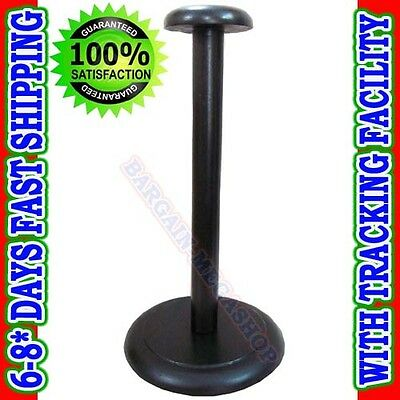 Medieval Wooden Helmet Stand Display for Helmet - Foldable Black Stand AS cc p2