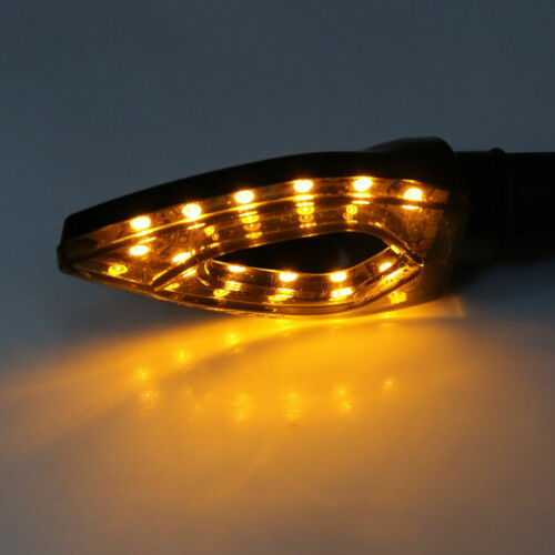Motorcycle Arrow Shape Universal Black Turn Signal Indicators Amber 12x LED/'s