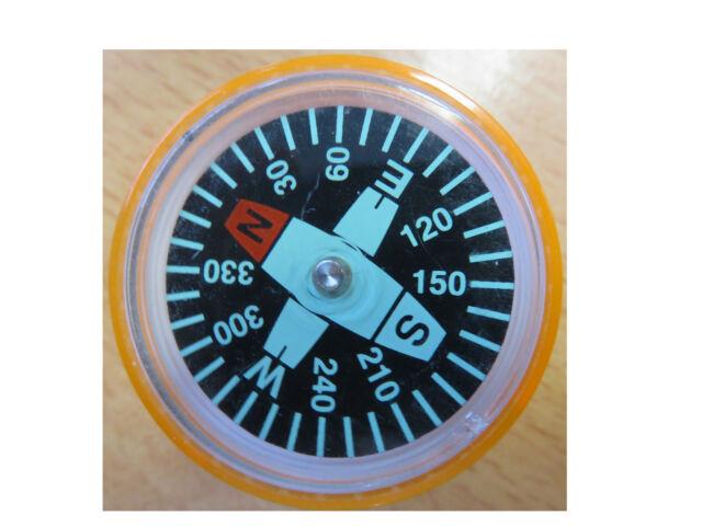 Brunnen - Spitzer mit Kompass * dünne + dicke Bleistifte * Orange 4003273625211