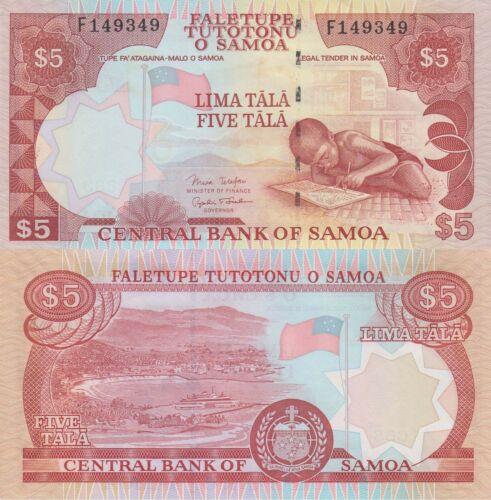 Child//Port City//p33b UNC ND Samoa 5 Tala