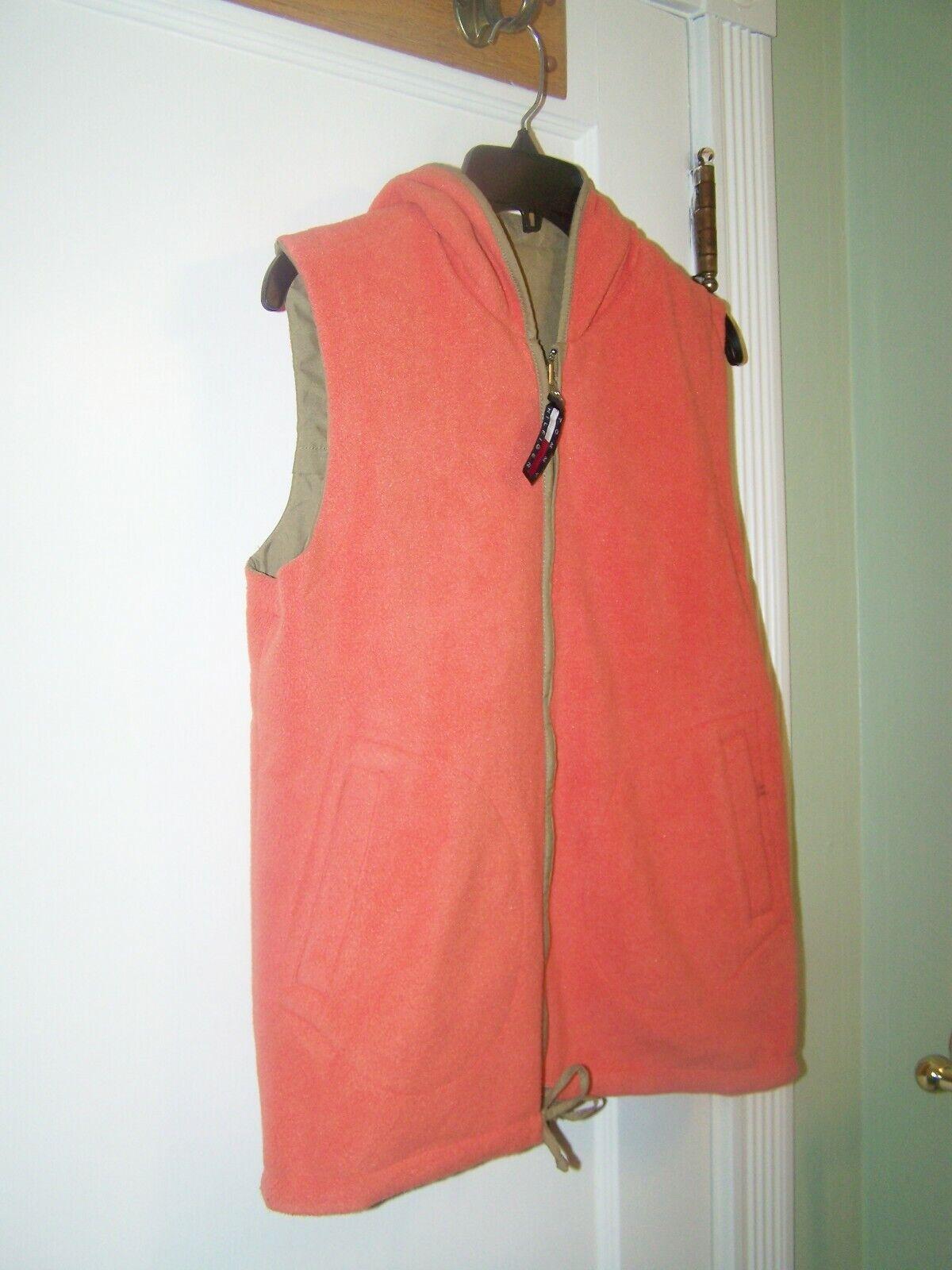 Tommy Hilfiger Vest Reversible Large Orange - image 3