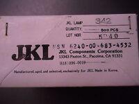 Jkl Components Corporation Lamps 342 500 Pcs Midget Screw Incandescent Bulb
