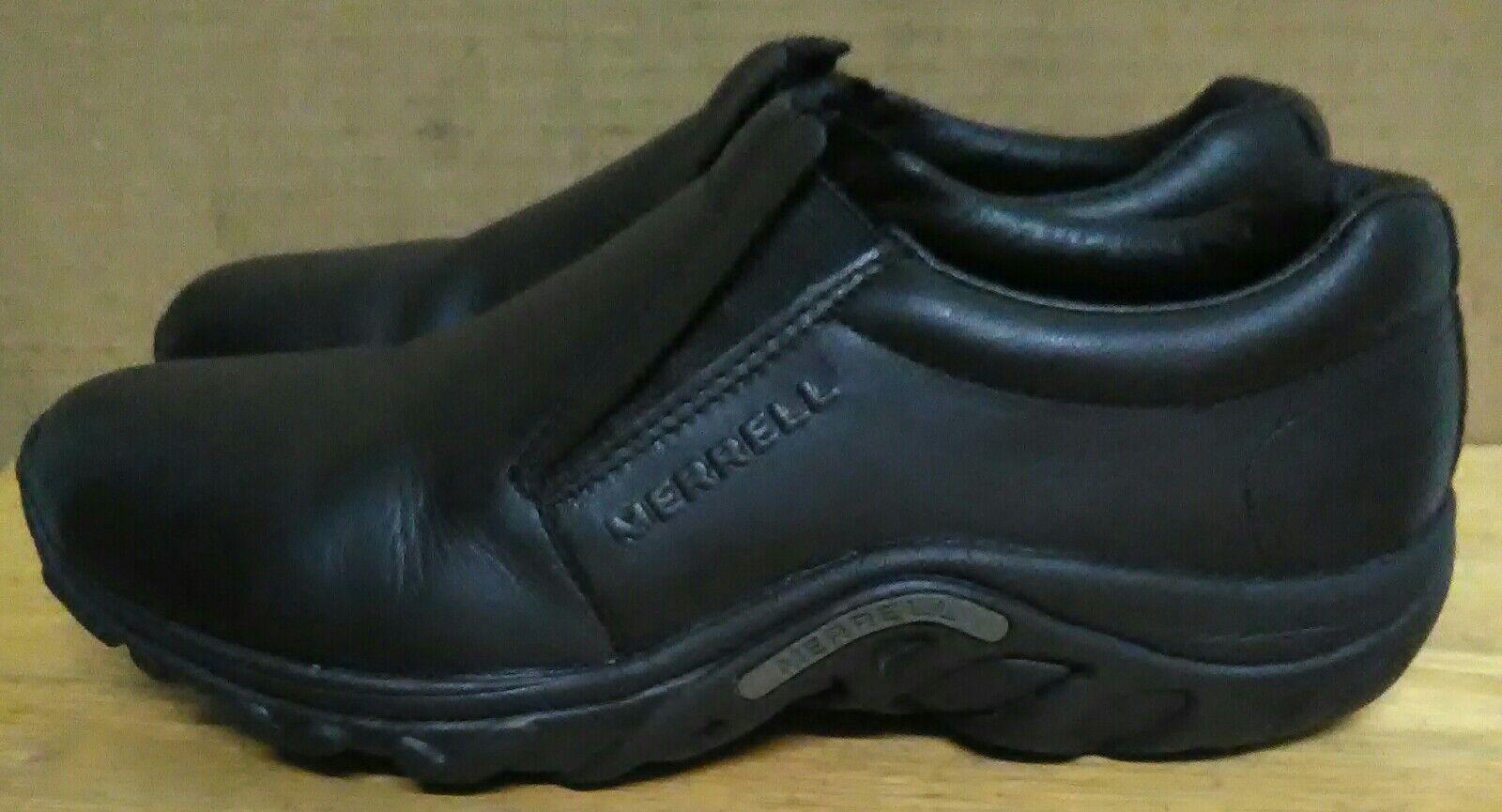 34976639176a Men s Merrell Merrell Merrell Jungle Moc Slip On shoes Midnight Black  Leather. Sz 11 06e18d