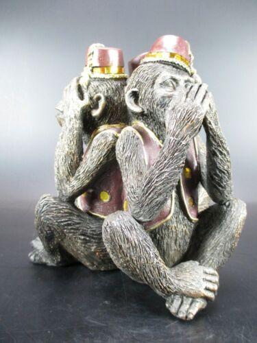 Affen der Weisheit Figur 17 cm Tier Dekofigur,Juliana Kollektion Great Britain