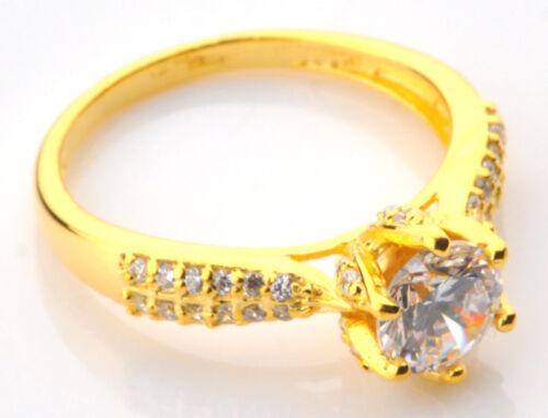 2,20 Karat 585er Gelbgold Runden Form Gut Aussehend Solitär Verlobung Ring