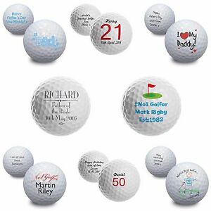 Image Is Loading Personalised Gifts Golf Balls Birthday Keepsake For Him
