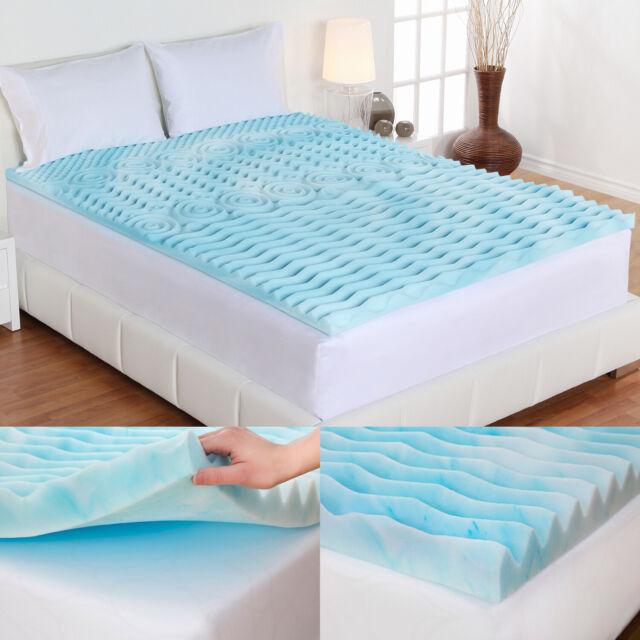"Lane 4/"" Cooling GelLux Memory Foam Gel Mattress Topper King Size Sleep Bed pad"