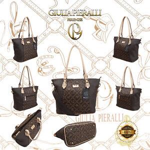 Damen Handtasche Giulia Pieralli Frauen Tasche große Tragetasche Henkeltasche