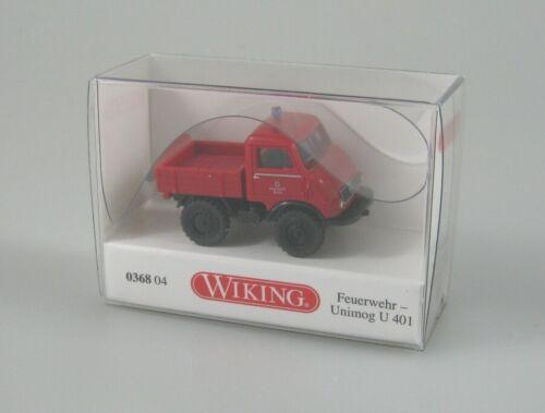 Nr. Wiking 1:87 H0 Neuheit Februar 2020 0368 04 Unimog U 401 Feuerwehr