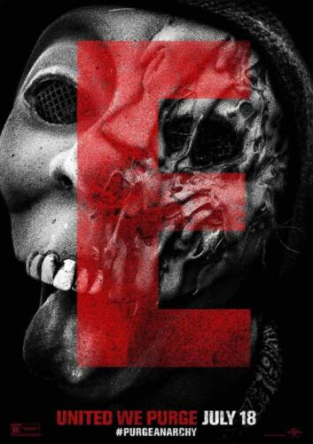The Purge Anarchy **DISCOUNTED OFFERS**  A3 A4 Movie Poster Print