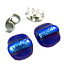 DICHROIC-Post-EARRINGS-1-4-034-7mm-Cobalt-Blue-Striped-Layered-Fused-GLASS-STUDS thumbnail 1