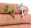 50Pcs Bronze Plaqué Argent Oiseau Charms pendentif pour bijoux Making 23x10mm