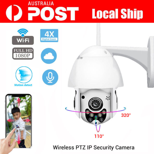 1080P Full HD Color CCTV IP Camera PTZ Outdoor Waterproof Wireless Wifi 4X Zoom
