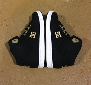 DC REBOUND TX Black Gold Youth shoes