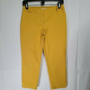 Talbots Signature Womens Yellow Capri Pants Size 2P FAST FREE US SHIPPING!!
