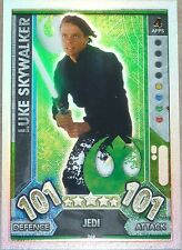 Topps Star Wars Force Attax Universe 2017 Rainbow Foil card LUKE SKYWALKER 269