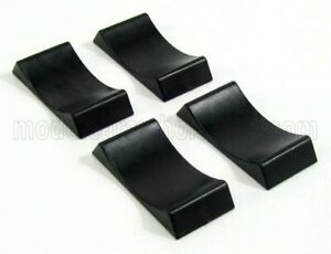 TRIPLE9 1/24 ACCESSORIES   SET 4X CUNEO BLOCCA RUOTE - 4X CAR STOPPERS   BLACK