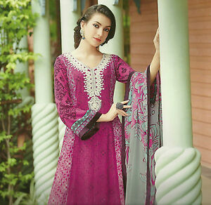 b28e17ffa1 Image is loading Pakistani-Designer-Chiffon-Georgette-Salwar-Kameez- Unstitched-Suit-