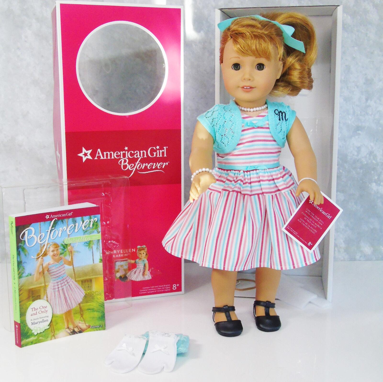 New American Girl Doll 18  Maryellen + cumplir con traje y Accesorios Perlas Caja de libro