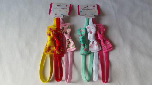 3pcs Baby Girls Bow Hair Band 1cm Alice Headband Bandeux Elastic