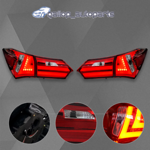 LED-Tail-Lamps-Red-Clear-For-Toyota-Corolla-ZRE172-2014-2017-Rear-Lights
