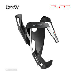 NEW 2020 Elite CUSTOM RACE PLUS Bicycle Water Bottle Cage MATTE BLACK//WHITE