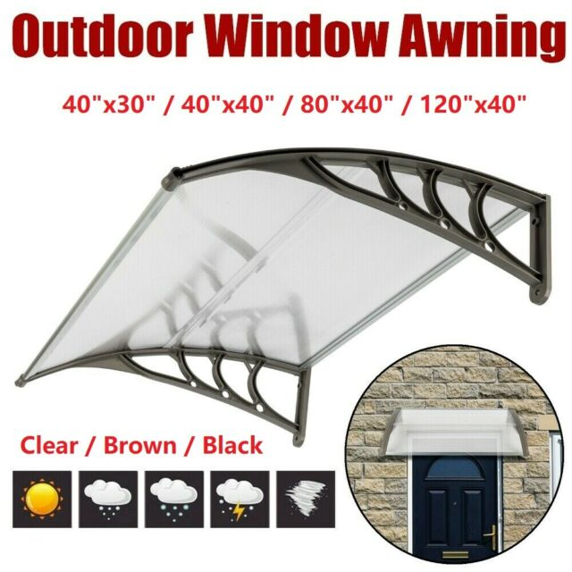 Outdoor Porch Canopy Patio Door Window Cover Awning Projection 2 Deck 6 5 Coffee For Sale Online Ebay
