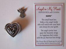 p Angel in my Heart Prayer box POCKET keepsake CHARM love sympathy memorial ganz