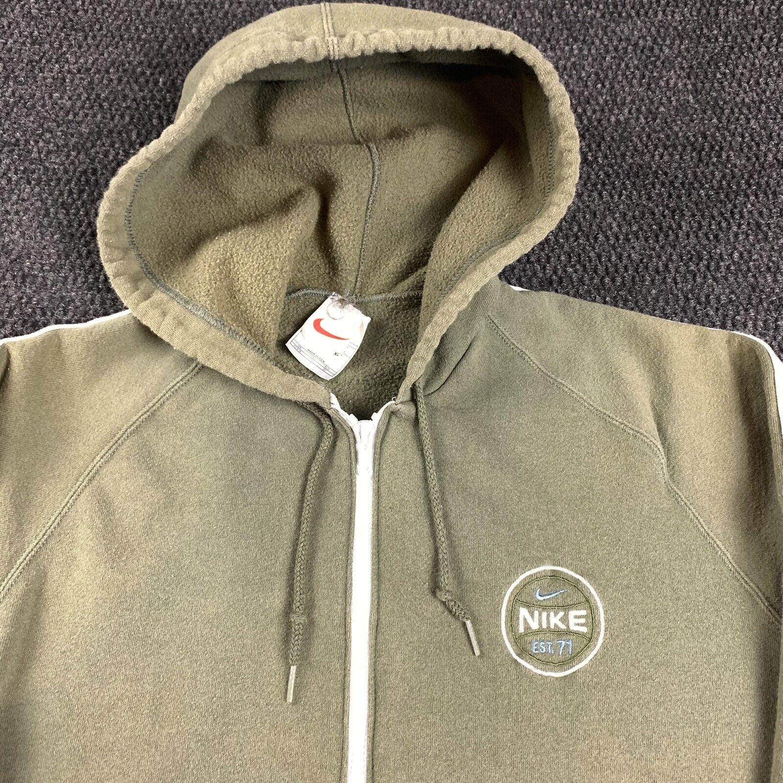 Vintage 90s Nike Womens XL Full Zip Jacket Hoodie… - image 9