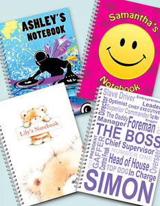 Personalised-A5-Notebooks-lined-or-blank-pages-FREE-P-P-by-D-L-Designs-Ltd