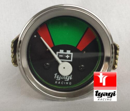 Vintage Voiture Van jauge tracteur batterie 12v horloge compteur chrome dial ammeter