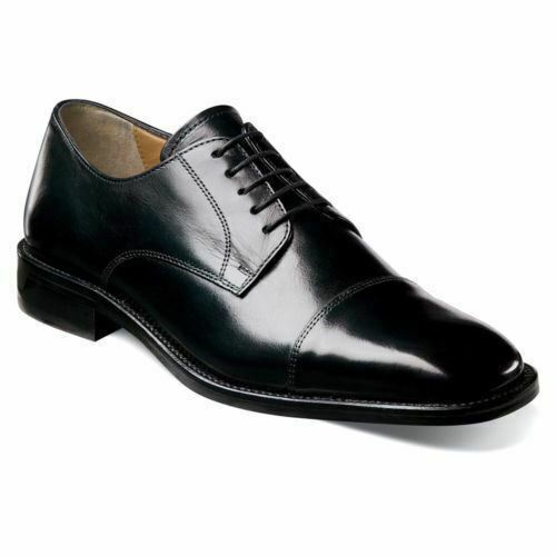 Florsheim Men's Lawrence Cap Toe Oxford Black 18194-01