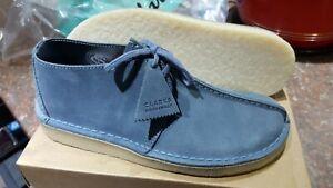 Clarks Originals Men ** Desert Trek  Blue Leather ** UK 7,8,9,10,11,12 G