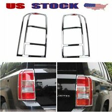Fits 2011 17 Jeep Patriot Chrome Taillight Cover Rear Lamp Protection Trim Frame Fits 2012 Jeep Patriot