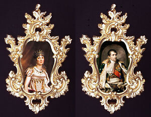 Josephine and Napoleon in Baroque frame.French Royal Family. Wall ...