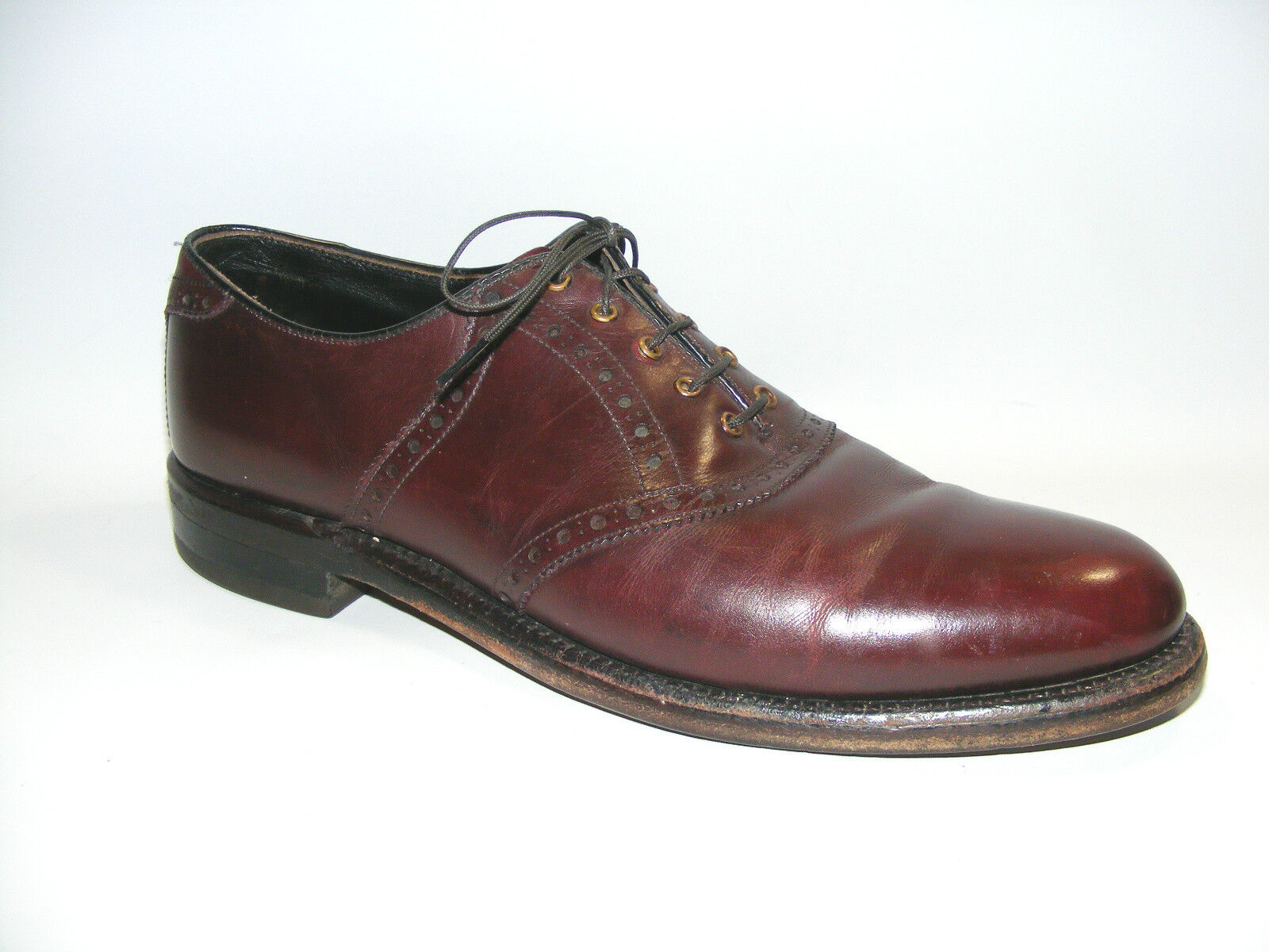 Footjoy Men's Burgundy Wine 10 AAA Classic Leather Oxford Dress 61861 shoes
