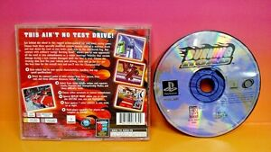 Burning Road - Playstation 1 2 PS1 PS2 Rare Game Tested Racing Race