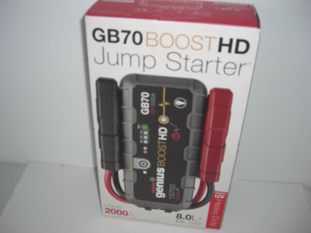 NOCO GENIUS BOOST SPORT GB70  2000 AMP 12 VOLT ULTRASAFE LITHIUM JUMP STARTER