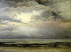 Immensity Gustave Courbet Painting Print on Canvas Repro Landscape Small 8x10