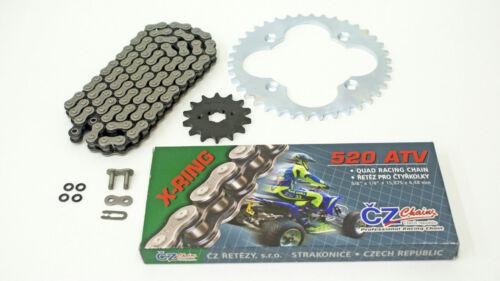 1997-2000 Honda 300EX TRX300EX CZ ATV X Ring Chain /& Silver Sprocket 13//38 86L