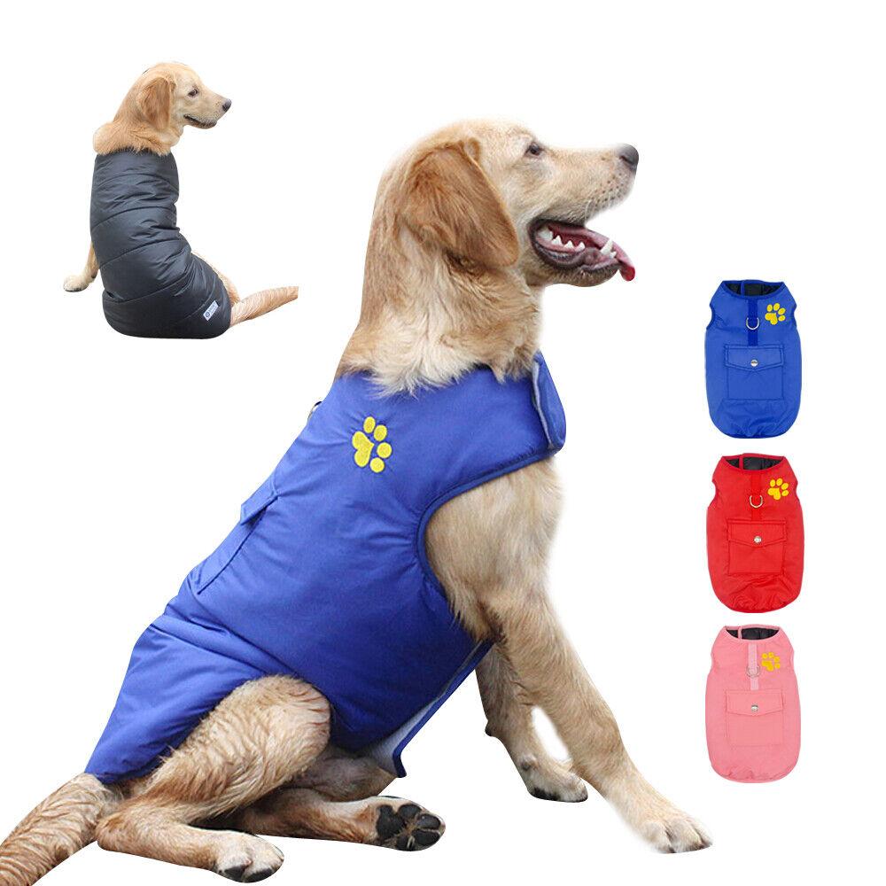 Long Blue Big Puppy Dog Hoodies Cotton Coat for Pets