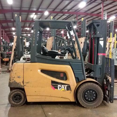 2016 CAT 2EP8000 80V Electric Pneumatic Forklift 93//191 3 Stage Mast