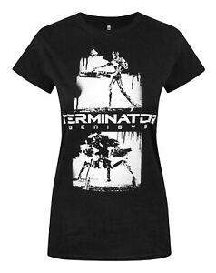 Terminator-Genisys-Graffiti-Women-039-s-T-Shirt