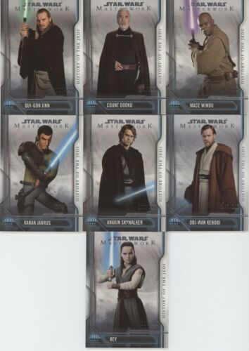 Topps Star Wars Masterwork 2018 HISTORY OF THE JEDI Insert //299 Choose your Card