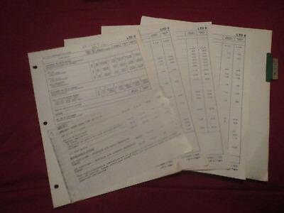 1977 Ford Ltd Ii Dealer Car Price And Options Order Guide Sheets Set Ebay