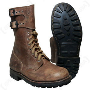 Image is loading Original-French-Ranger-Brown-Combat-Boots-Genuine-Issued- f6e307db480