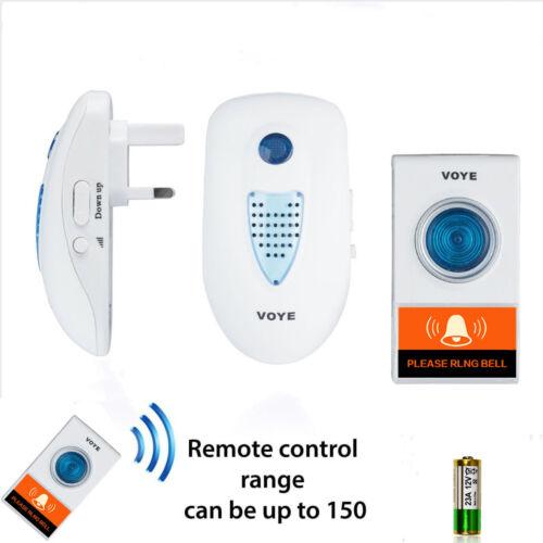 150M Range 38 Melodies Twin UK Plug IN Wireless Cordless Digital Chime Door Bell