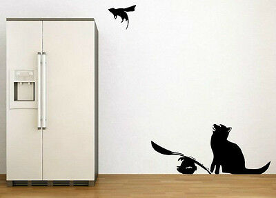 Amazing motion effect modern art Banksy Cat and SuperMouse wall stickers NEW UK