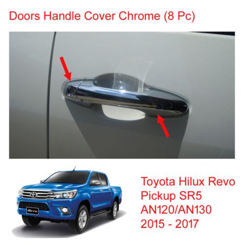 4 Doors Handle Cover Chrome Trim For Toyota Hilux Revo SR5 M70 UTE 2015-2017